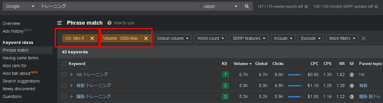 Keywords Explorer(キーワードエクスプローラー)の使い方